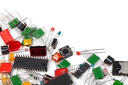 Electronics components background