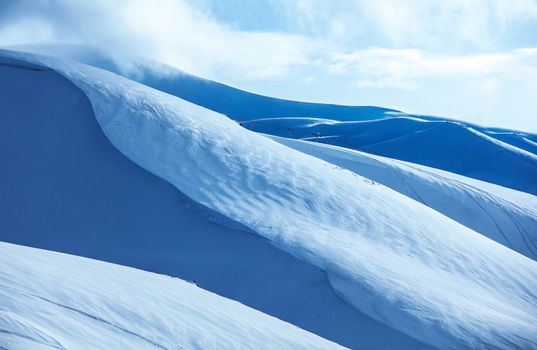 Mountains covered snow