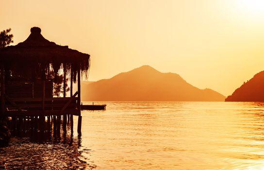 Asian coastal resort
