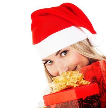 Happy Santa with presents