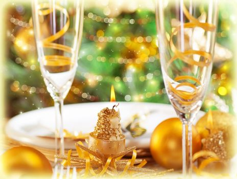 Romantic holiday dinner