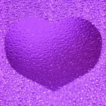 close-up shot of a colorful violet crystal heart bachground