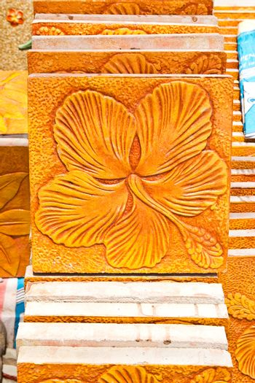 Detail of Portuguese glazed tiles.