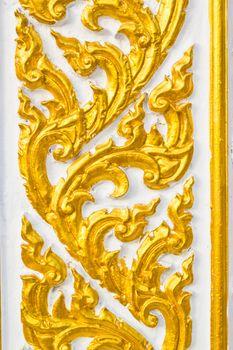 Buddha wall of Thai style pattern design