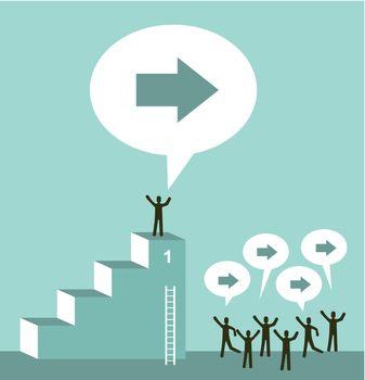 Leadership on business team