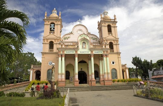 April 2012 - Bogo City, Panay, Philippine Islands - The 160 year old Archdiocesan Shrine of San Vincent Ferrer is a Catholic church cathedral near the center of Bogo City in northern Panay, Philippine Islands.