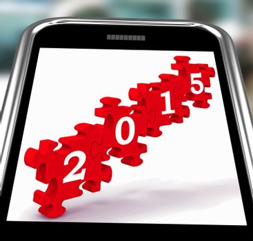 2015 On Smartphone Showing Future Celebrations And Festivities