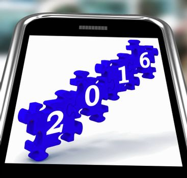 2016 On Smartphone Shows Future Technology And Mobile Applications