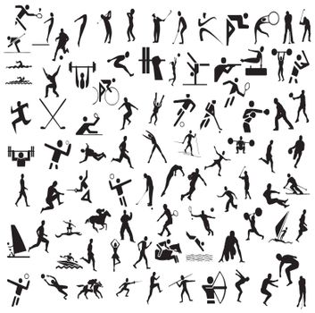 Vector illustration with Olympic sports