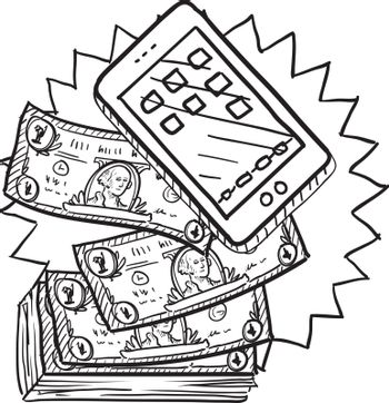 Cell phones are expensive sketch