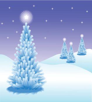 Abstract winter vector background scene