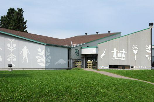 Canada, Quebec, amerindian museum in the village of Mashteuiatsh