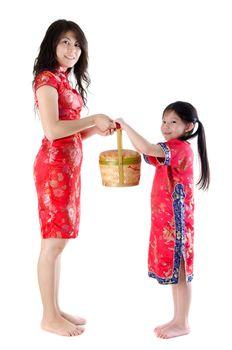 Full body oriental family
