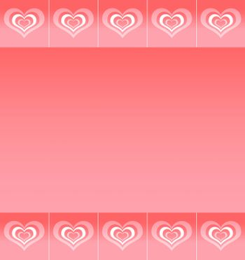 Background with pattern of abstract stylized love symbols