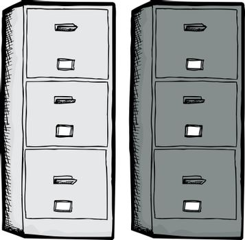 Isolated Filing Cabinets