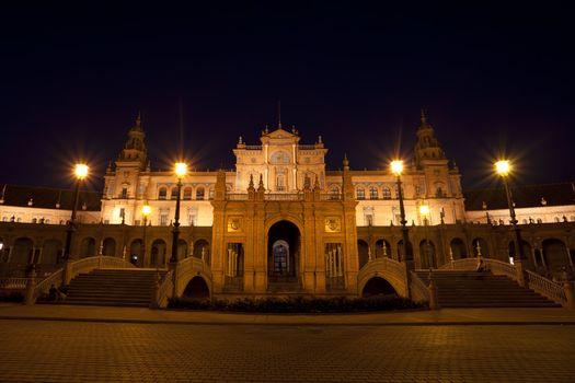 charming Plaza de Espana at night
