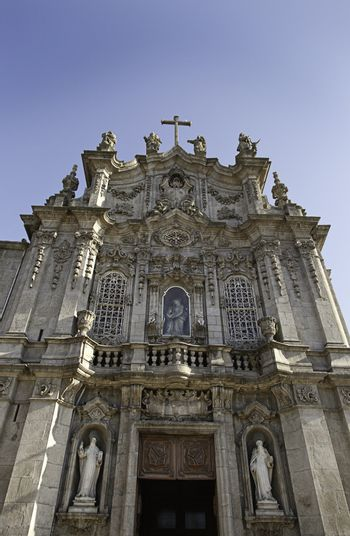 Christian Church in Lisbon, detail of the front facade, historic building