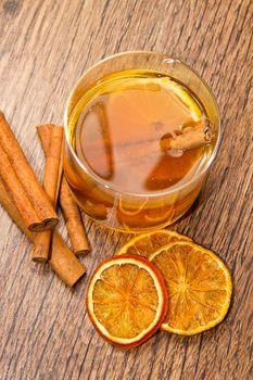 tea with oranges and cinnamon