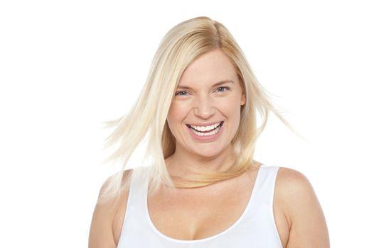 Portrait of a stunning blonde model