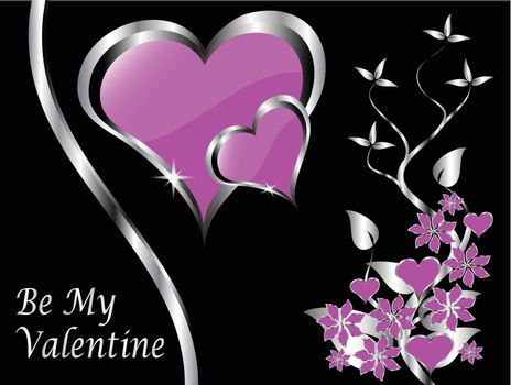 A vector valentines background