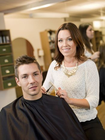 Adult man in a Beauty salon