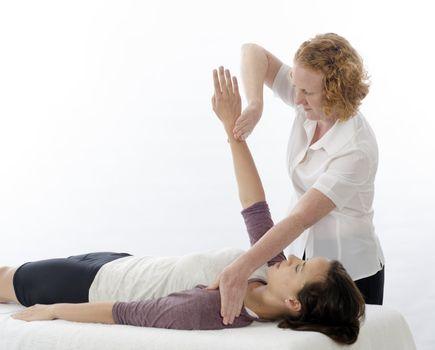 Kinesiologist treating Pectoralis major