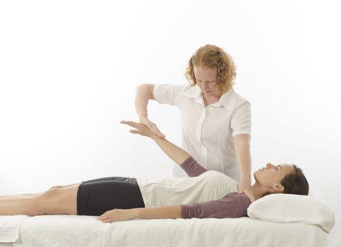 Kinesiologist treating anterior deltoid