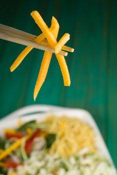 Chopsticks and stir fry