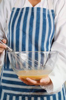 Cooking making pancake mixture