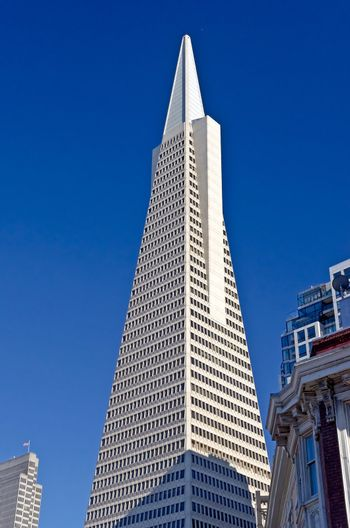 The most famous Skyscraper landmark in San Francisco, Transamerica Pyramid, August 2012
