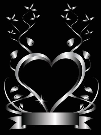A vector hearts background