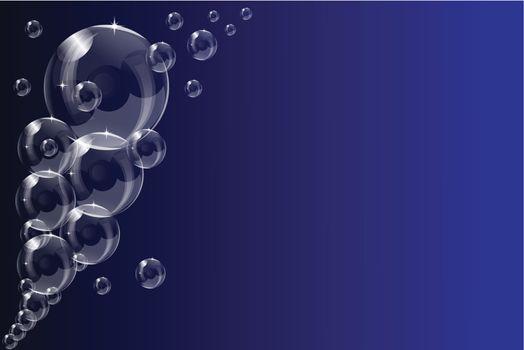 A transparent soap bubble background