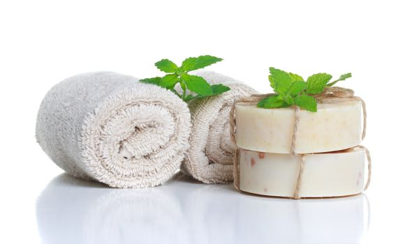 Soap and Rolled Towels
