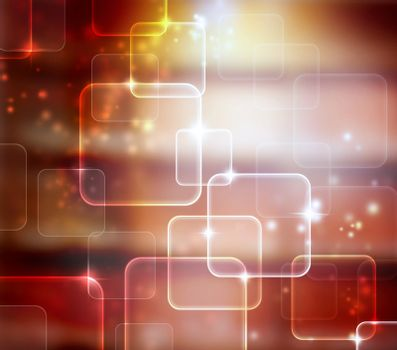 Abstract Tech Red Background