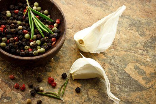 Peppercorn and Garlic