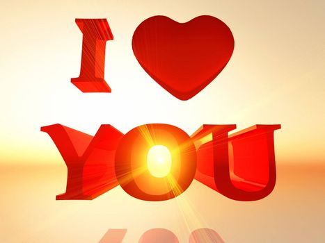 """the word """"i love you in 3 D letters"""