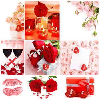 Love concept collage