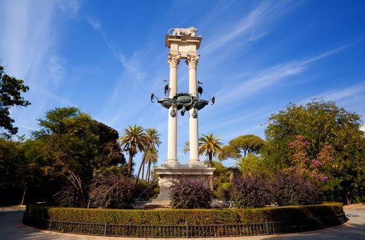 Columbus monument in Sevilla