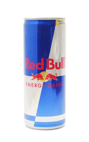 Caransebes, Romania - November 20, 2012: Can of Red Bull energy drink isolated on white