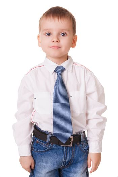 Calm clever preschool kid