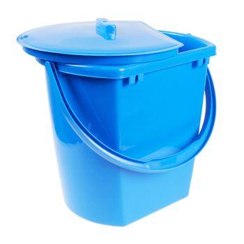 Bucket for washing floors. Isolated on white background