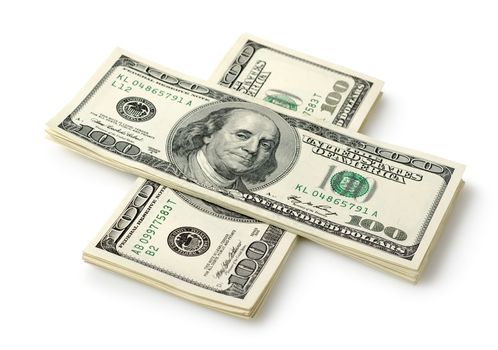 Money in the form of a cross