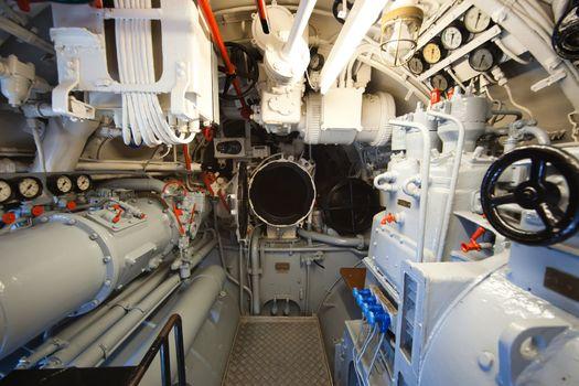 German world war 2 submarine type VIIC/41 - aft torpedo compartment - editorial photo
