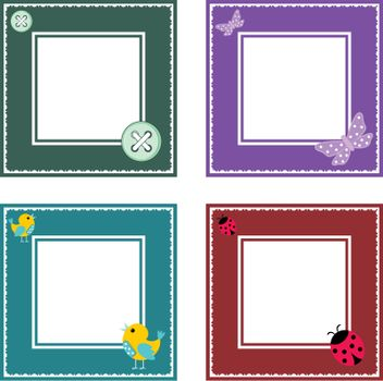 Set of cute frame on a white background.