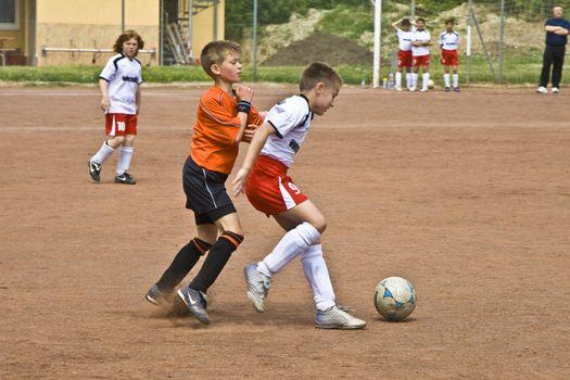 NIEDERJOSBACH, GERMANY - MAY 08: Football game Children E-Class Niederjosbach - BSC Schwalbach , May 08, 2008 in Niederjosbach, Germany