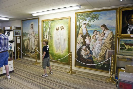 HURRICANE, USA - JULY 17: visiting the old house of family Breadshaw which is operating now as a museum of Mormons history in Utah  on July 17,2008 Hurricane, USA