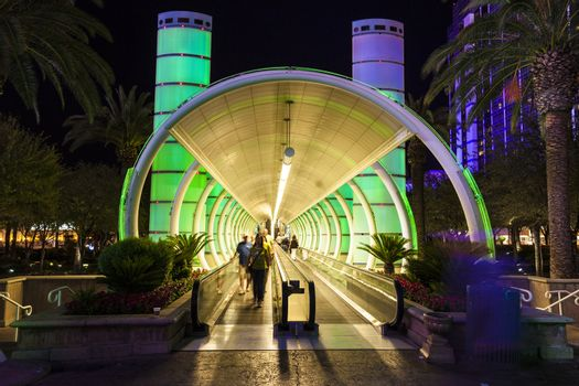 entrance of Ballys Hotel and Casino on the Vegas Strip in Las Ve