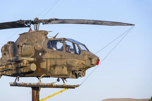 AH-1Cobra Helicopter  at Veterans Memorial in Susanville