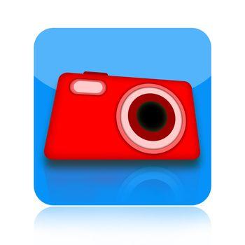 Digital photo camera icon