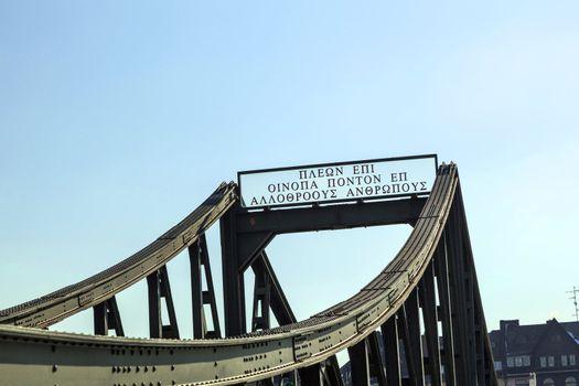 bridge eiserner Steg in Frankfurt, Germany.